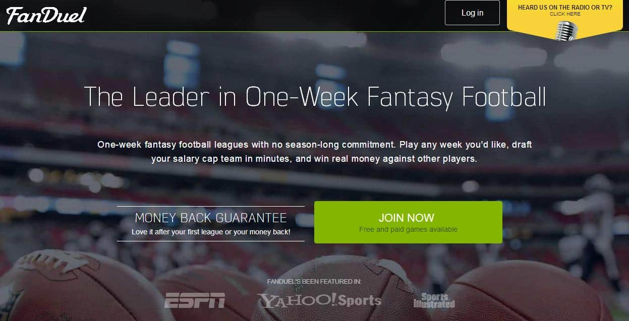 A FanDuel fantasy sport oldal kockázati tőkét kapott, nem is keveset