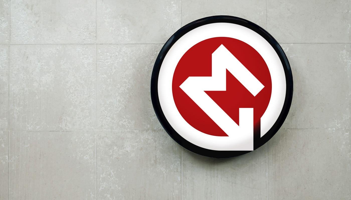 77 variáció a metró logóra, vagyis az M betűre. A magyar is közöttük van. – #ábra