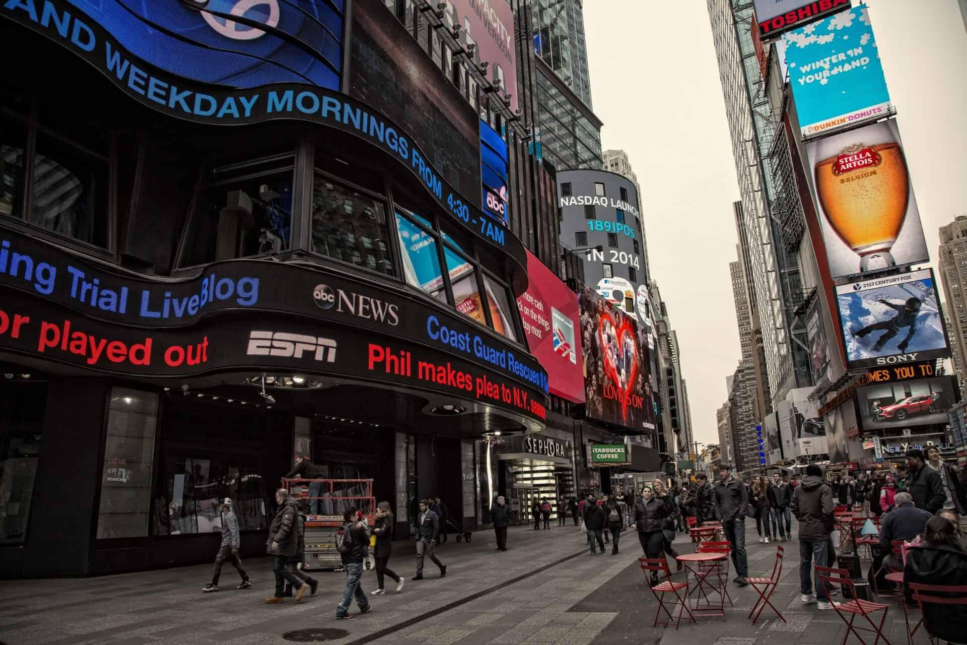 Mennyiért lehet reklámozni a Time Square-en?