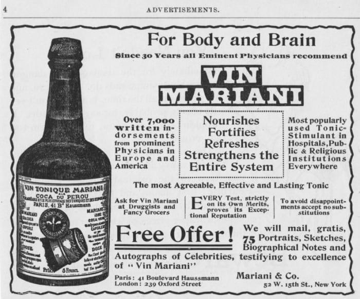 Már az 1800-as években használták az influencer marketinget. Kokainos bort reklámoztak vele sikeresen.