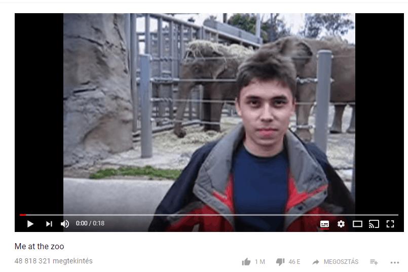 Ez volt az első Youtube videó. Már 13 éves az oldal. A Youtube sztori a cikkben!