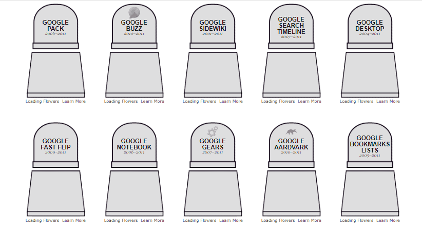 Google projektek temetője/Slate.com