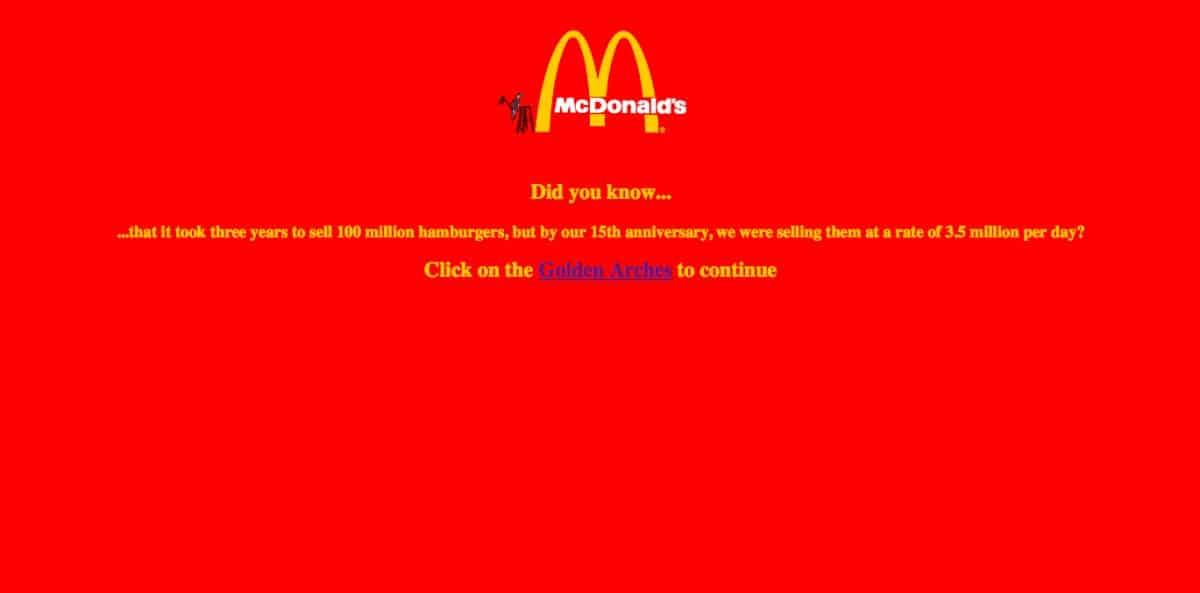 Így nézett ki a McDonalds, Coca-Cola, Pepsi első weblapja