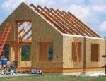 Könnyű szerkezetű ház, osb lapokból